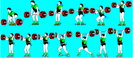 Judo Training - Figure 3 The phases of the Clean and Jerk